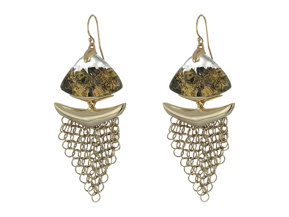 Alexis Bittar - Dangling Mesh Wire Earrings (Gold Lame) Earring