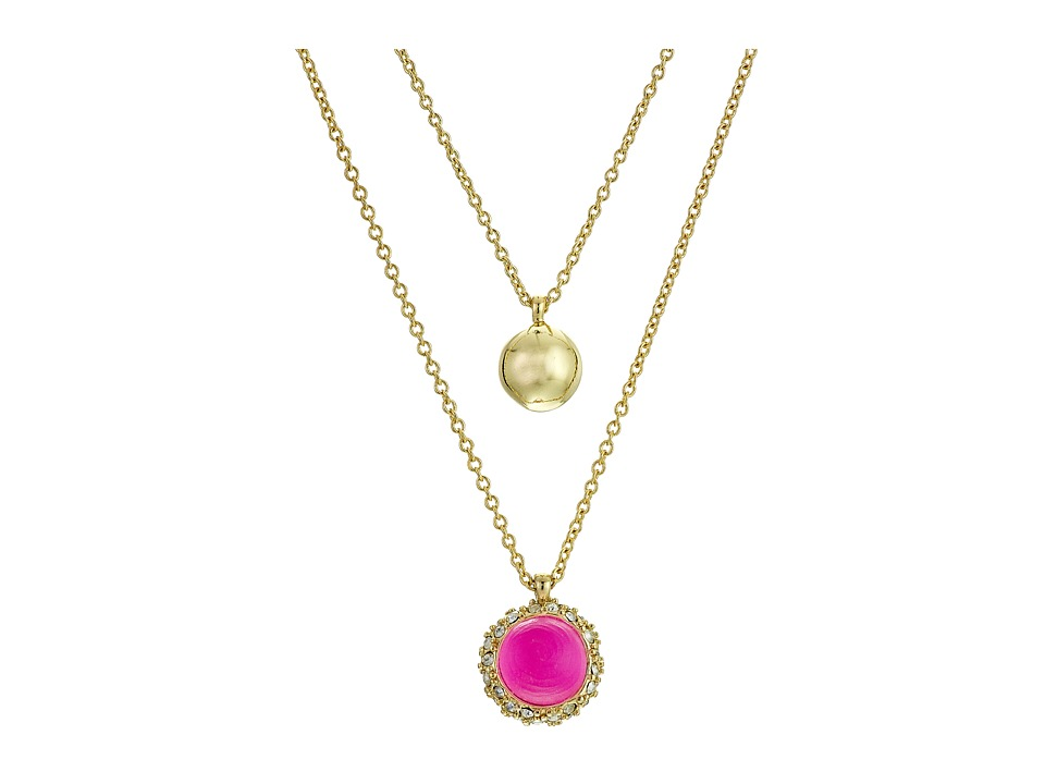 Alexis Bittar - Crystal Encrusted Detachable Sphere Pendant Set (Fluorescent Pink) Necklace