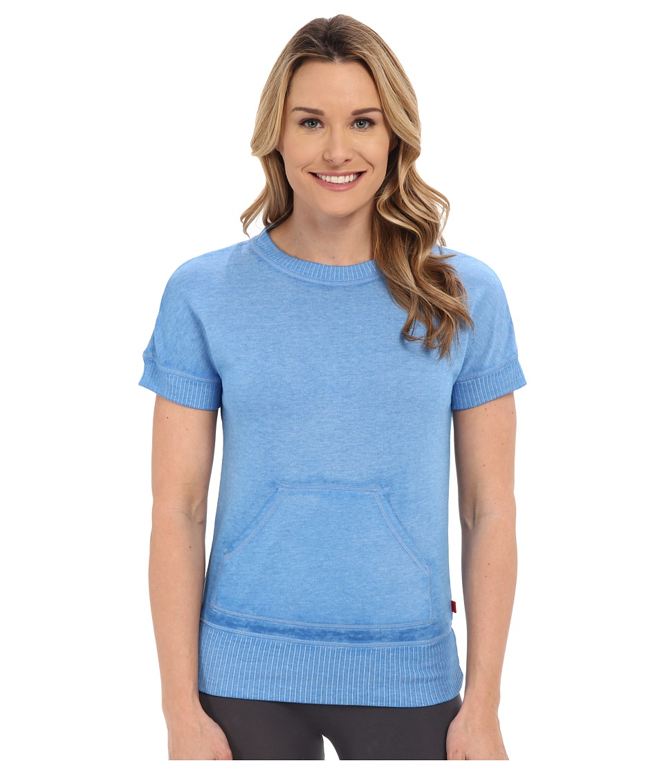 Josie - New Sweat Short Sleeve Top (Marina Blue) Women's Sweatshirt