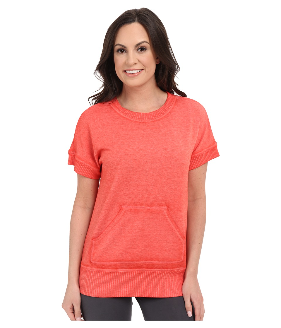 Josie - New Sweat Short Sleeve Top (Guava) Women's Sweatshirt