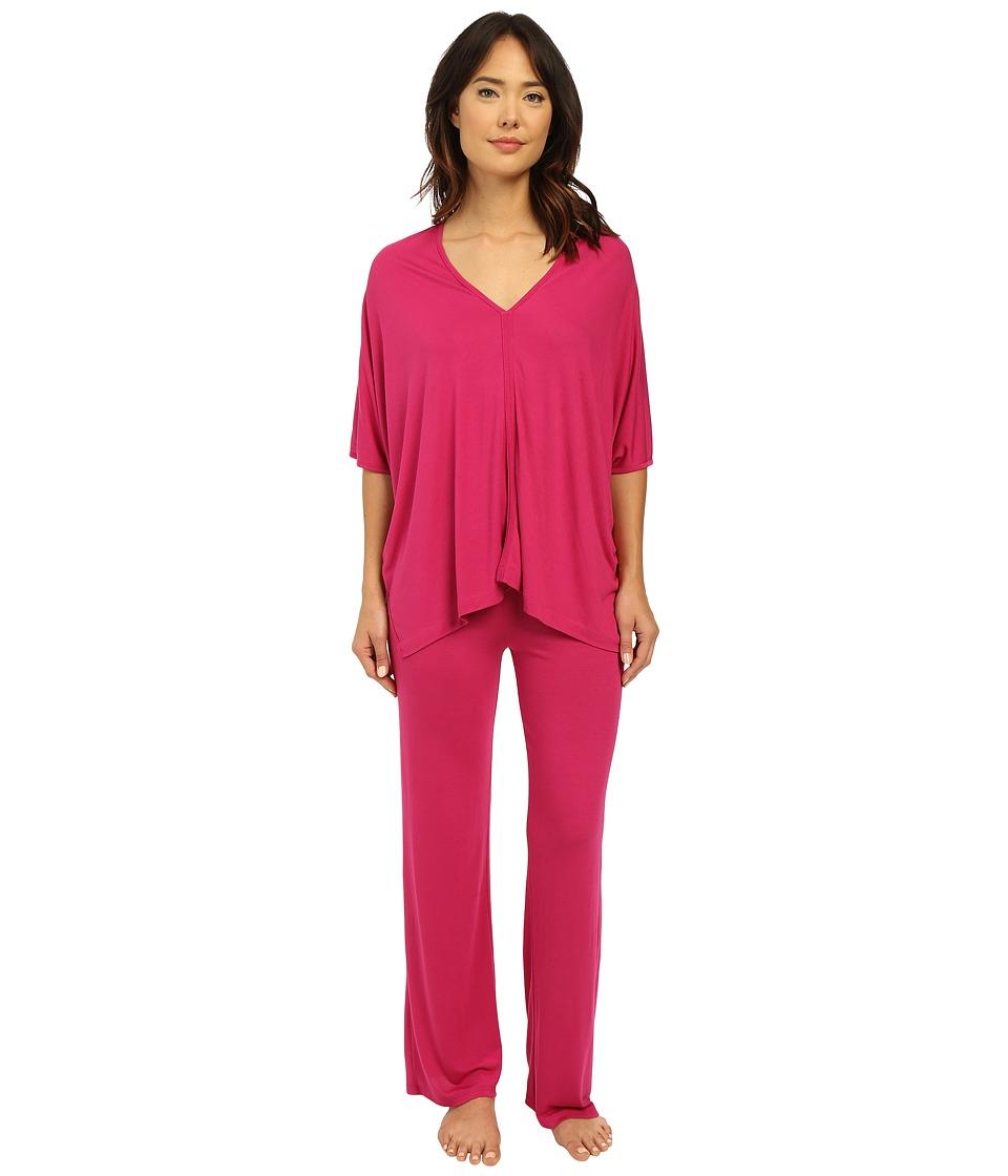 Natori - Shangri-La Tunic PJ (Fuchsia Pink) Women's Pajama Sets