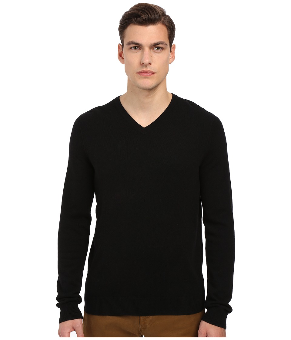 Vince - Cashmere V-Neck (Black) Men's Sweater