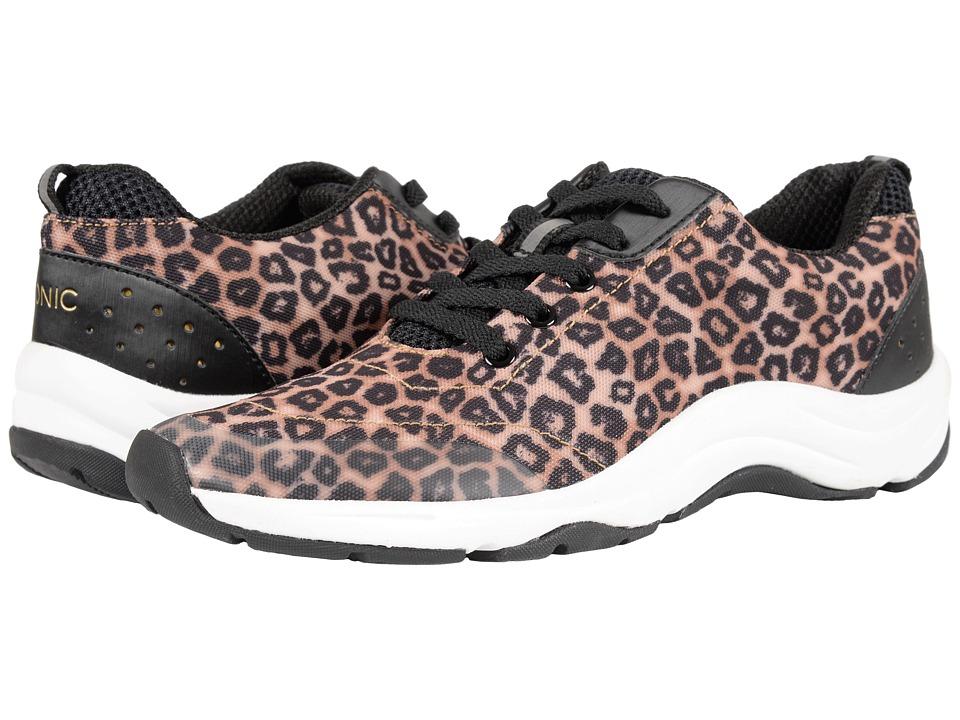 VIONIC - Action Tourney Lace Up (Brown Leopard) Women's Lace up casual Shoes