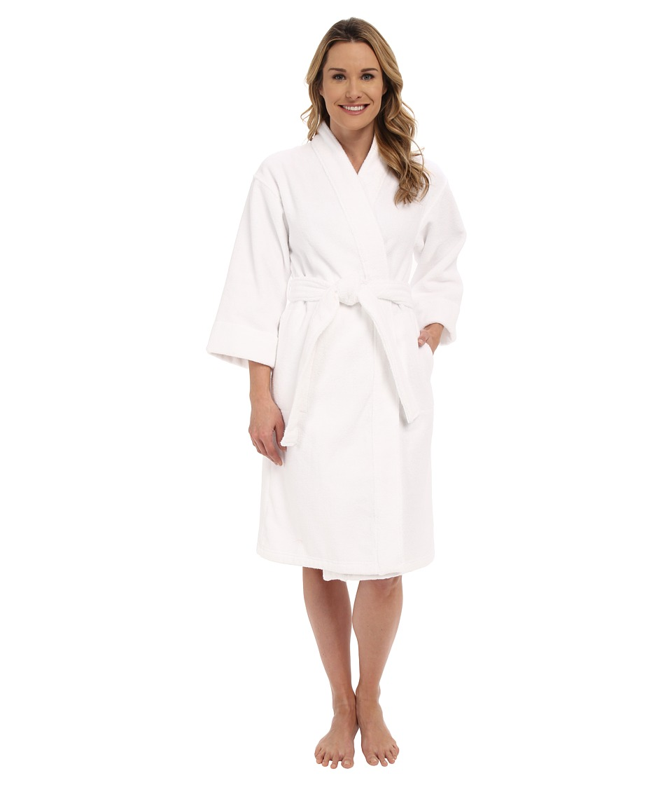 Natori - Cotton Terry Robe 42 (White) Women's Robe