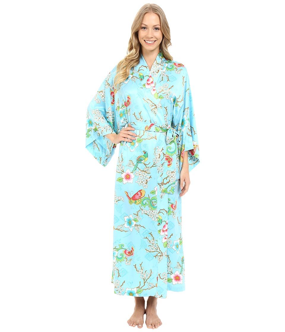 Natori - Magnolia Robe (Sky Blue) Women's Robe