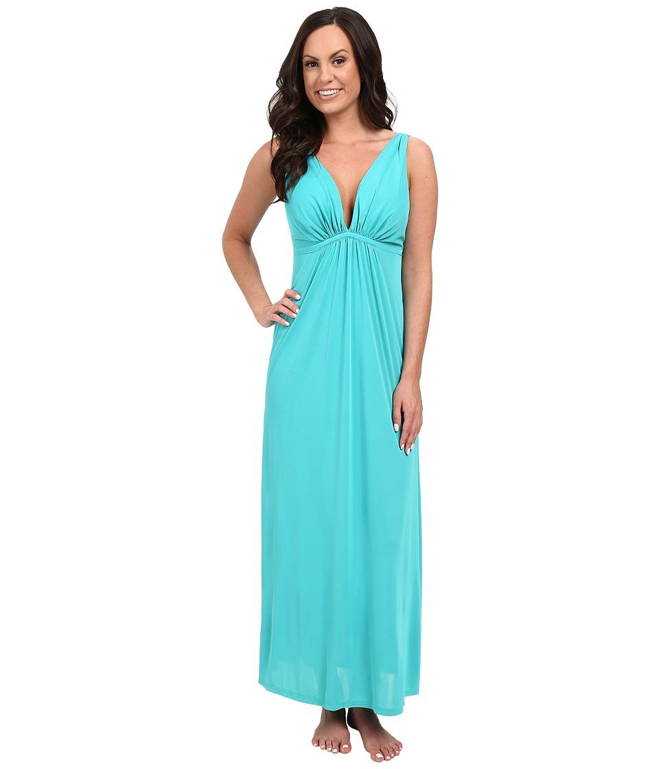Natori - Aphrodite Tank Gown (Turquoise) Women's Pajama