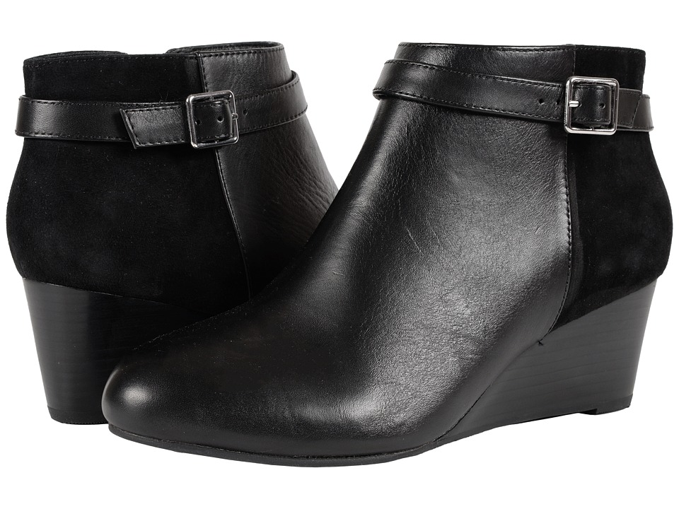 VIONIC - Elevated Shasta Wedge Boot (Black Black) Women's Wedge Shoes