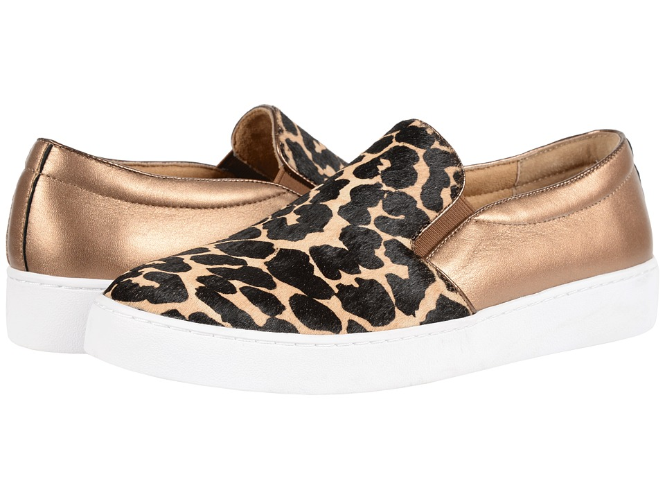 VIONIC - Splendid Midi Double Gore (Tan Leopard) Women's Slip on Shoes