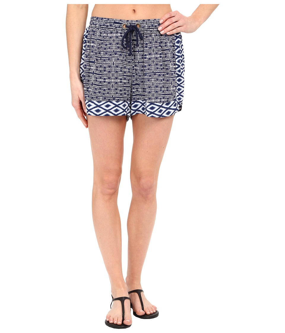 Sperry - Island Time Ikat Beach Shorts (Midnight) Women's Swimwear