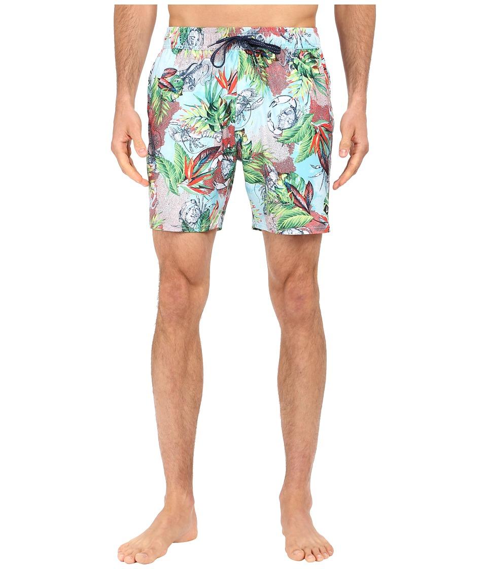 Sperry - Hide and Sneak Volley Shorts (Aqua) Men's Swimwear