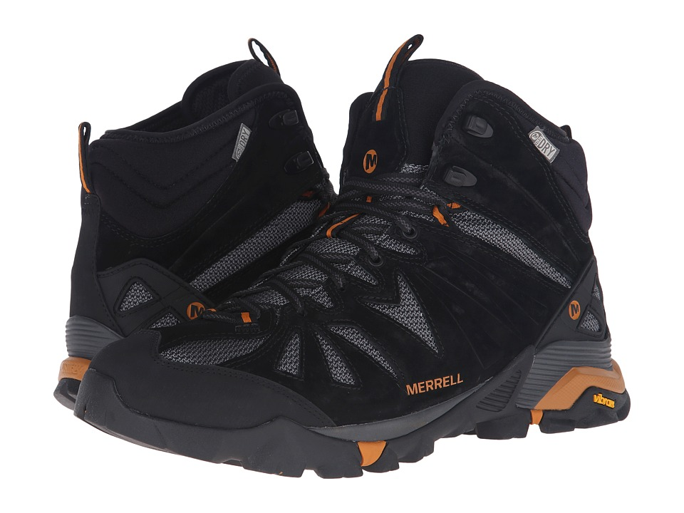 Merrell Capra Mid Waterproof (Black/Orange) Men