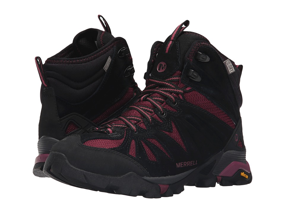 Merrell - Capra Mid Waterproof (Huckleberry) Women's Hiking Boots