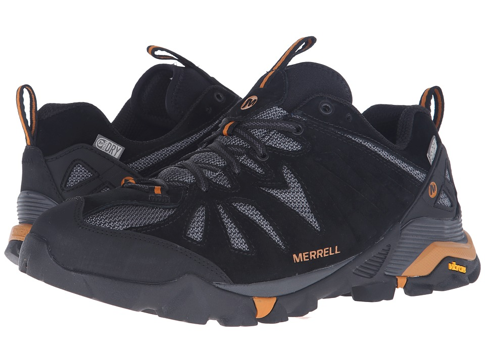 Merrell - Capra Waterproof (Black/Orange) Men's Climbing Shoes