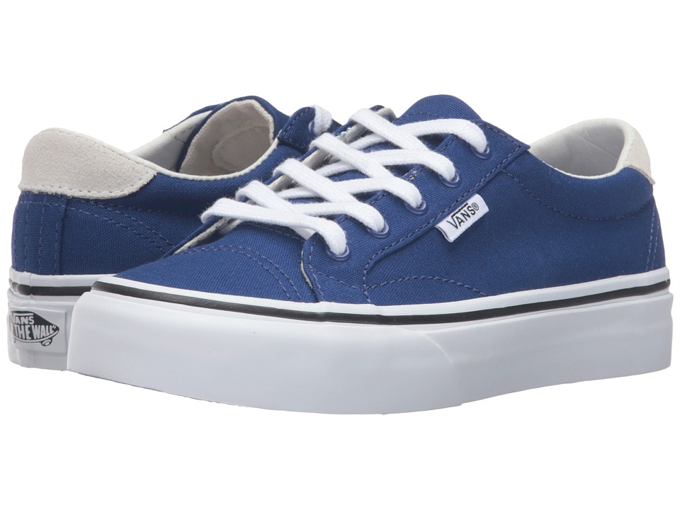 Vans Kids - Court (Little Kid/Big Kid) ((Canvas) Sodalite Blue/True White) Girls Shoes