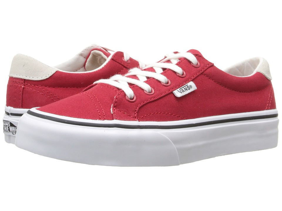 Vans Kids - Court (Little Kid/Big Kid) ((Canvas) Racing Red) Girls Shoes