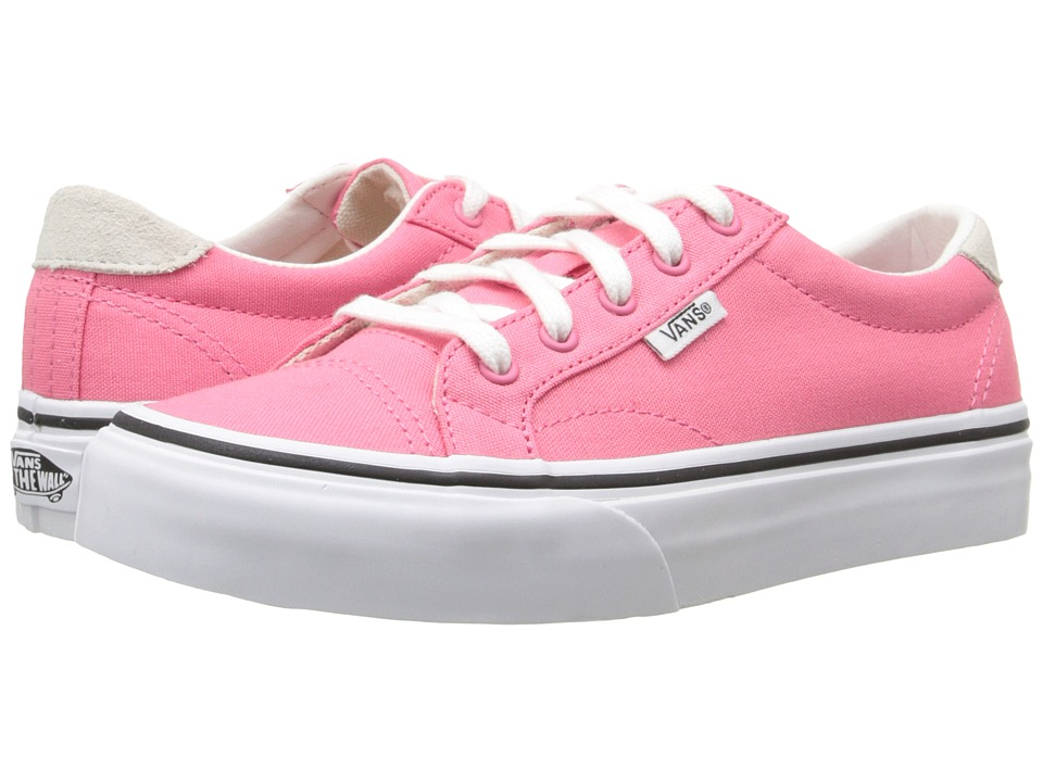 Vans Kids - Court (Little Kid/Big Kid) ((Canvas) Camellia Rose/True White) Girls Shoes