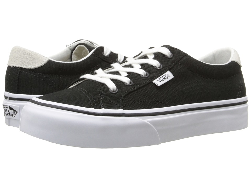 Vans Kids - Court (Little Kid/Big Kid) ((Canvas) Black/True White) Girls Shoes