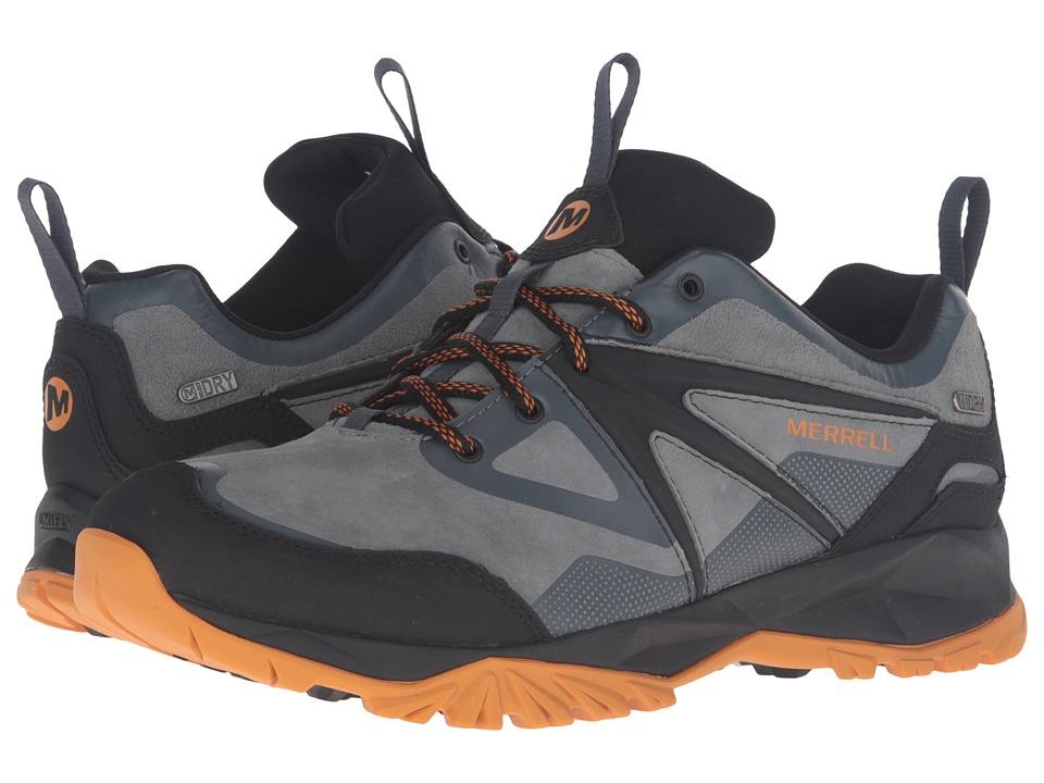 Merrell - Capra Bolt Leather Waterproof (Dark Slate) Men's Lace up casual Shoes