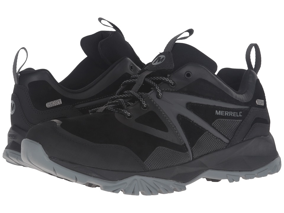 Merrell Capra Bolt Leather Waterproof (Black) Men
