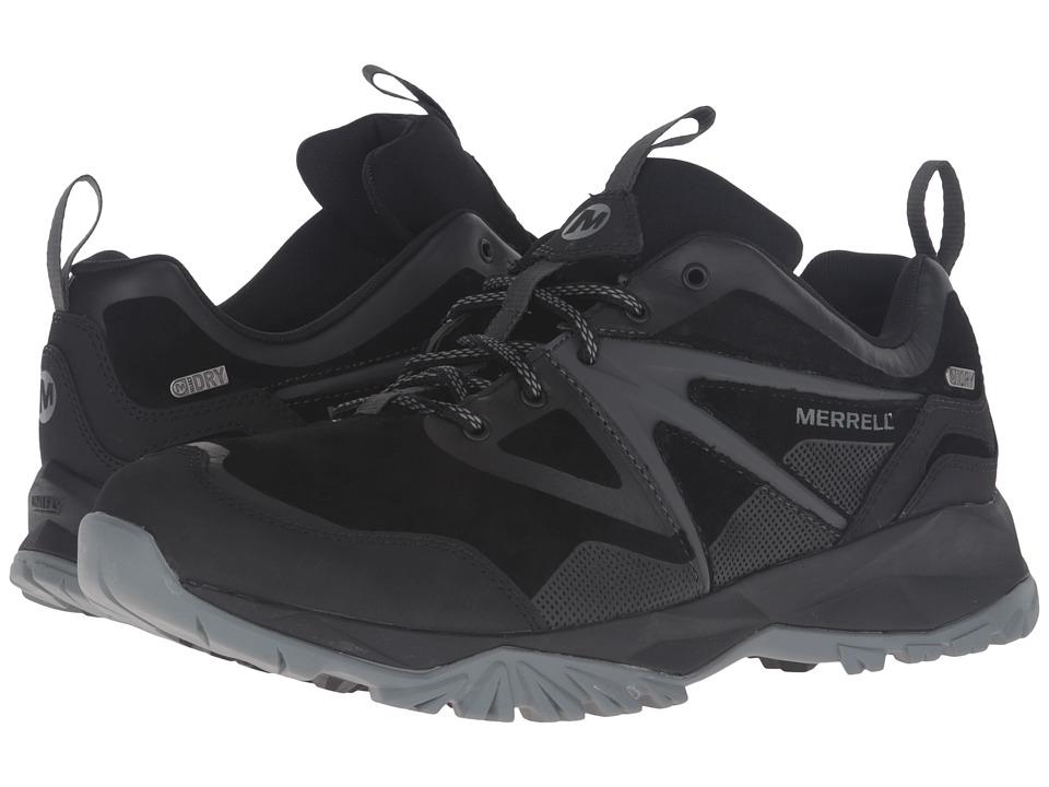 Merrell Capra Bolt Leather Waterproof (Black) Men