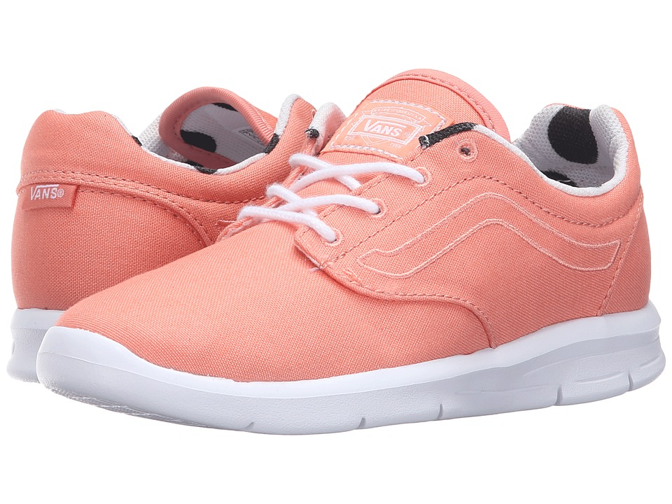 Vans Kids Iso 1.5 (Little Kid/Big Kid) ((Dots) Burnt Coral/White) Girls Shoes