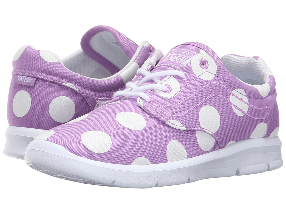 Vans Kids - Iso 1.5 (Little Kid/Big Kid) ((Dots) African Violet/White) Girls Shoes