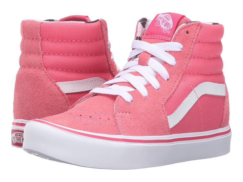 Vans Kids - Sk8-Hi Lite (Little Kid/Big Kid) ((Dots) Camellia/White) Girls Shoes