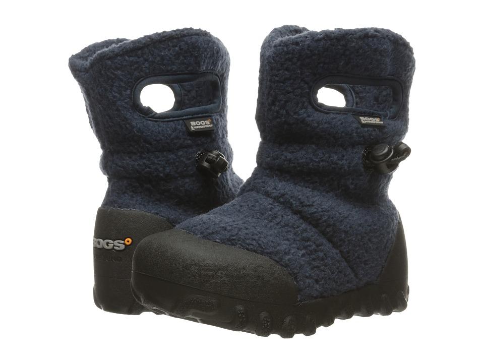Bogs Kids - B-Moc Fleece (Toddler/Little Kid) (Navy) Boys Shoes