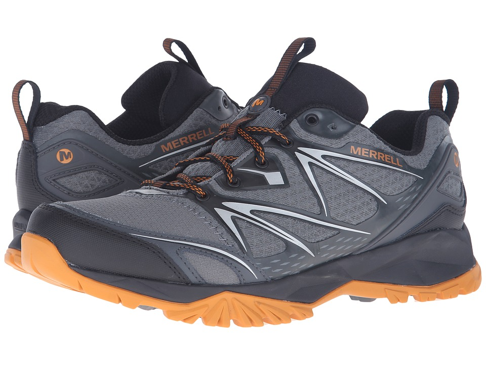 Merrell - Capra Bolt (Grey/Orange) Men's Shoes