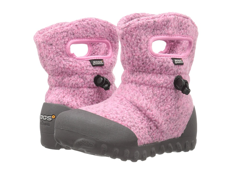 Bogs Kids - B-Moc Fleece (Toddler/Little Kid) (Pink) Girls Shoes