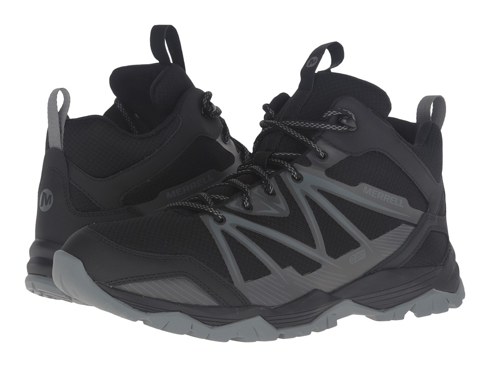 Merrell Capra Rise Mid Waterproof (Black) Men