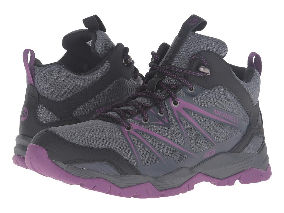 Merrell Capra Rise Mid Waterproof (Grey/Purple) Women