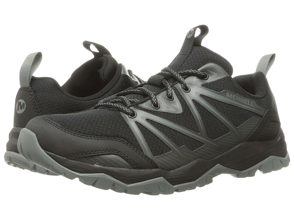Merrell - Capra Rise (Black) Men's Lace up casual Shoes