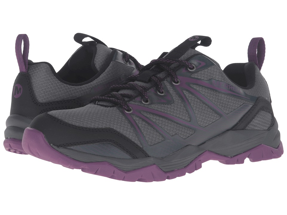 Merrell - Capra Rise (Grey/Purple) Women's Lace up casual Shoes