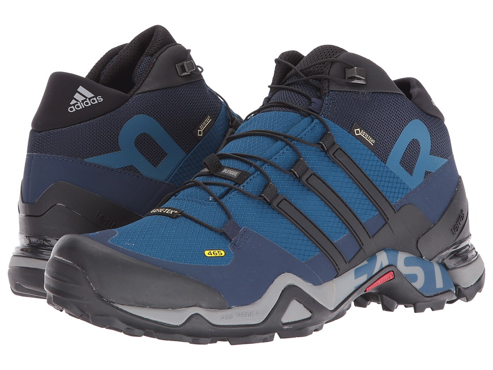 adidas Outdoor - Terrex Fast R Mid GTX (Tech Steel/Black/Collegiate Navy) Men's Hiking Boots