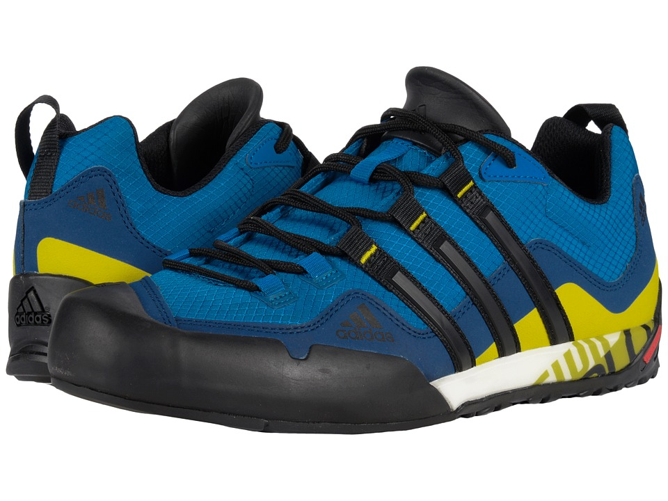 adidas Outdoor - Terrex Swift Solo (Unity Blue/Black/Unity Lime) Men's Shoes