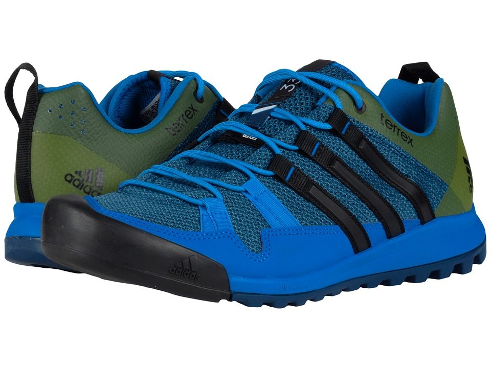adidas Outdoor - Terrex Solo (Tech Steel/Black/Blanch Blue) Men's Climbing Shoes