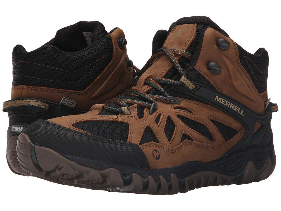 Merrell - All Out Blaze Vent Mid Waterproof (Merrell Tan) Men's Shoes