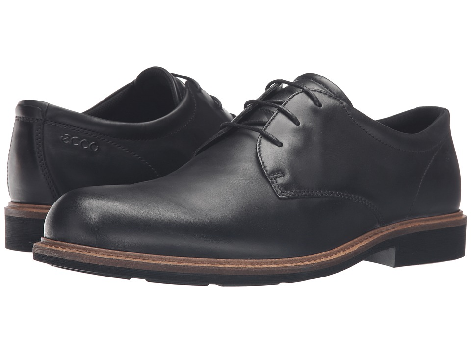 ECCO - Findlay Plain Toe Tie (Black) Men's Shoes