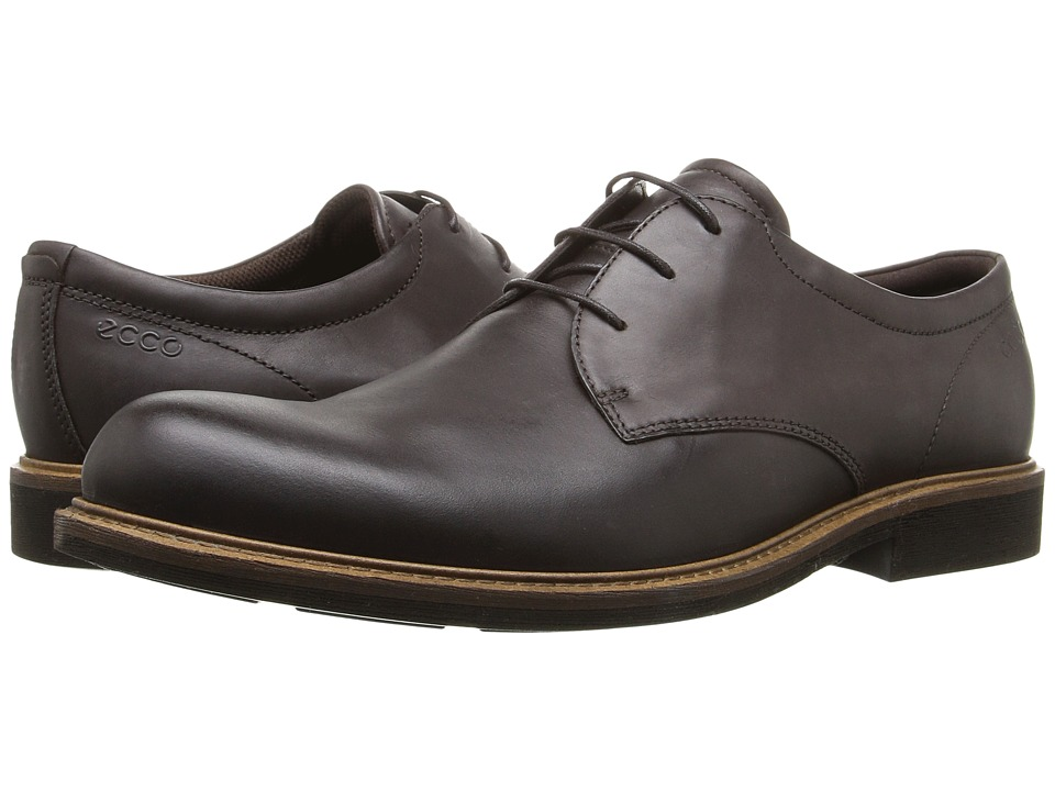 ECCO - Findlay Plain Toe Tie (Coffee) Men