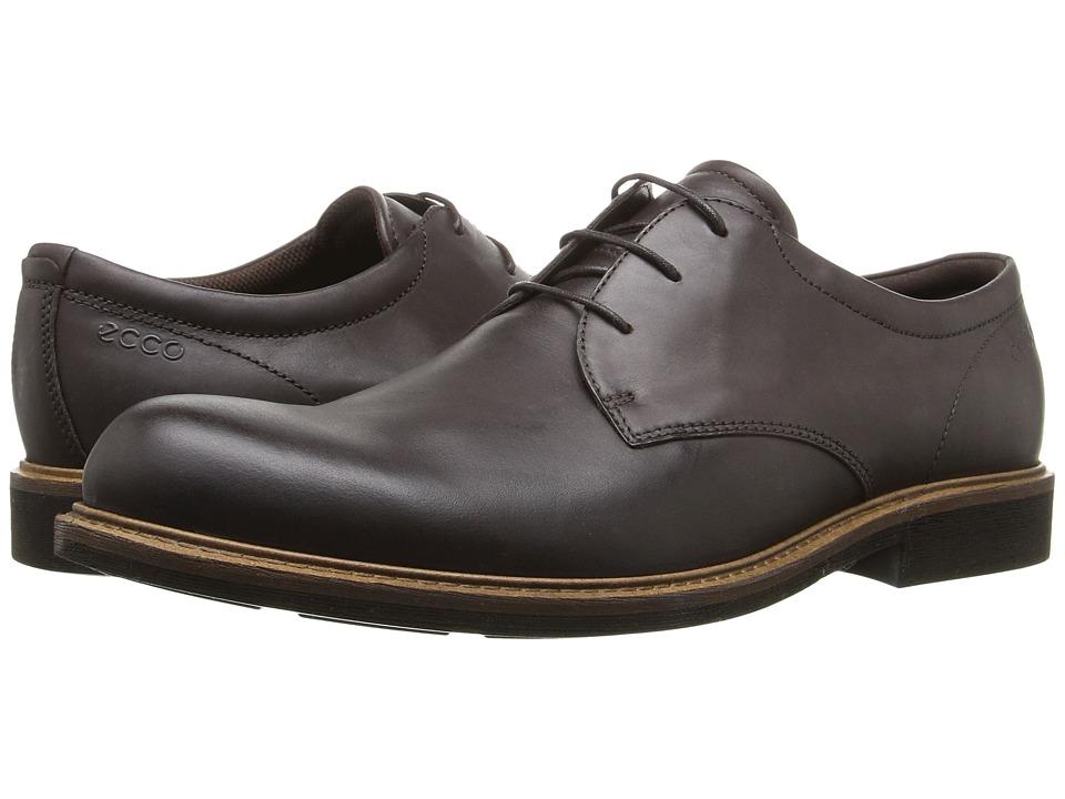 ECCO - Findlay Plain Toe Tie (Coffee) Men's Shoes