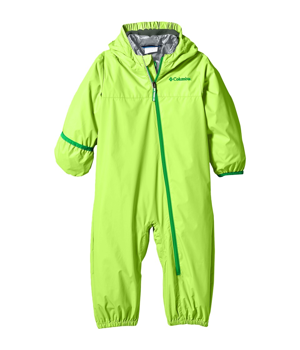 Columbia Kids - Whirlibird Bunting (Infant/Toddler) (Green Mamba/Grey Ash/Fuse Green) Kid's Jumpsuit & Rompers One Piece