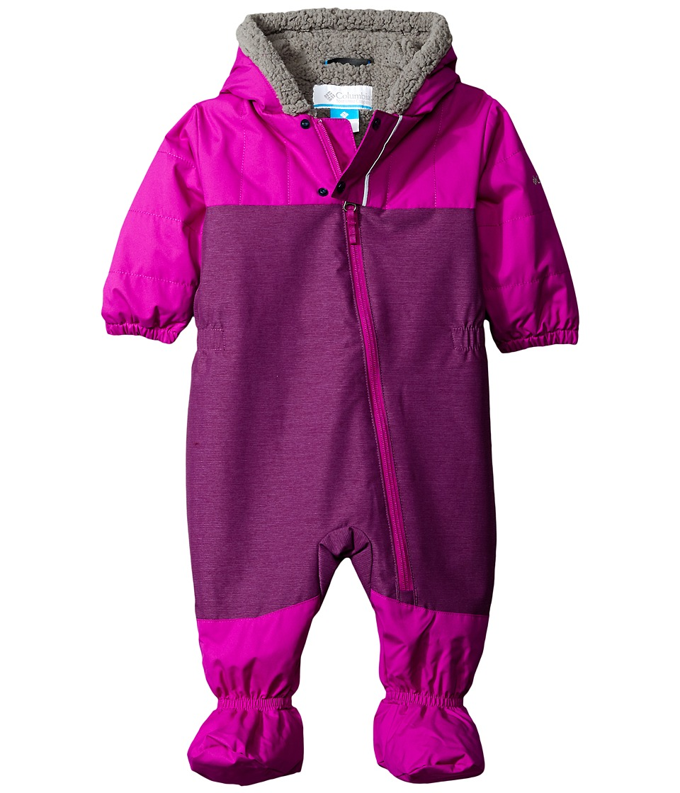 Columbia Kids - Cute Factor Bunting (Infant/Toddler) (Iris Glow/Bright Plum) Kid's Jumpsuit & Rompers One Piece
