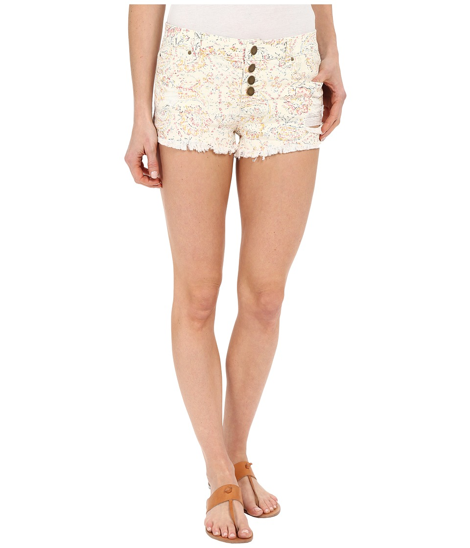Billabong - Buttoned Up Denim Shorts (White Cap) Women's Shorts