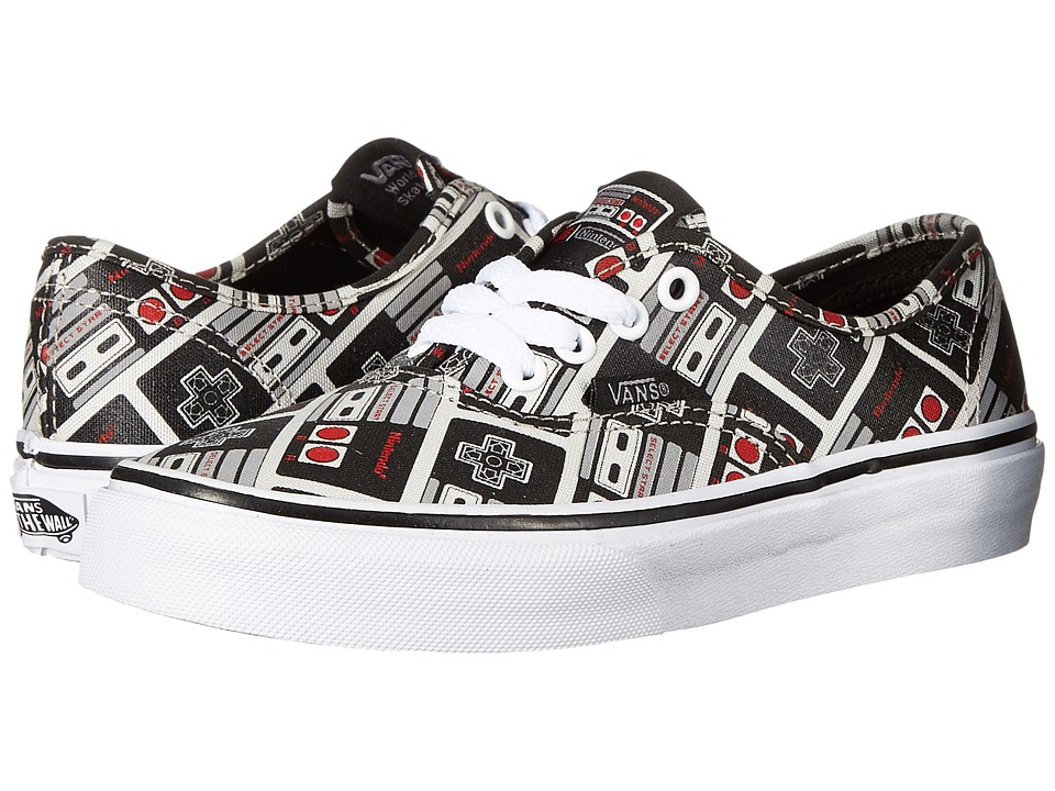 Vans Kids - Authentic (Little Kid/Big Kid) ((Nintendo) Controller/True White) Kids Shoes