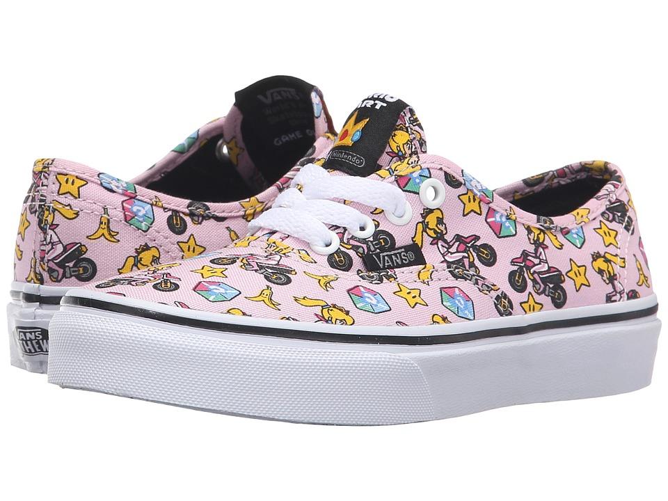 Vans Kids - Authentic (Little Kid/Big Kid) ((Nintendo) Princess Peach/Motorcycle) Girls Shoes