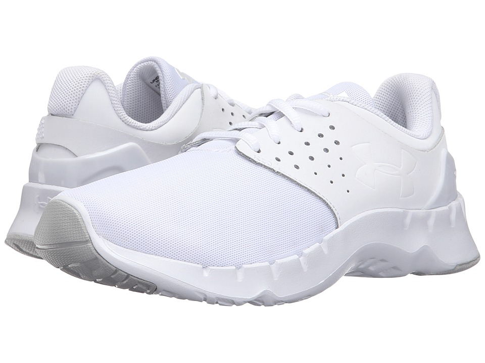 Under Armour Kids - UA GS Flow RN U (Little Kid) (White/White/White) Boys Shoes