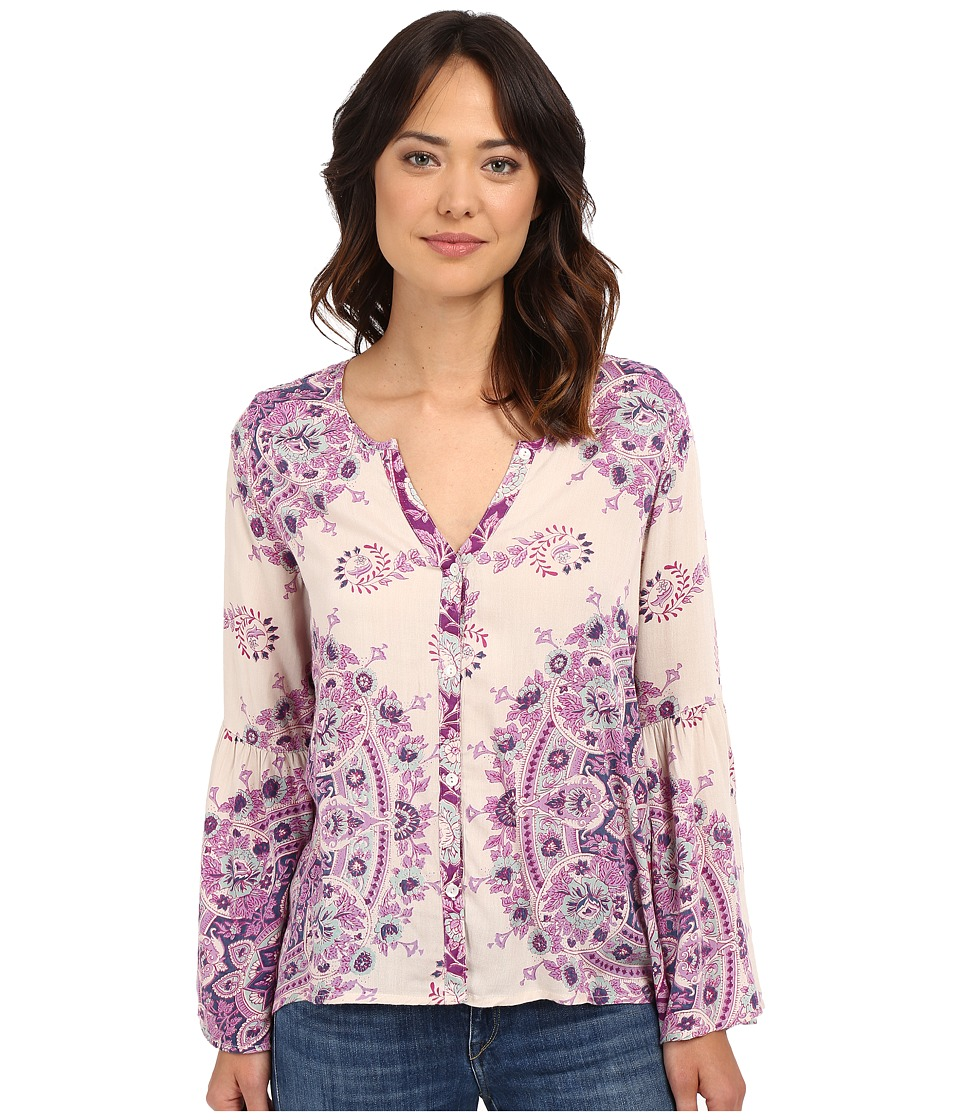 Billabong - Silver Bloom Long Sleeve Top (White Cap) Women's Blouse