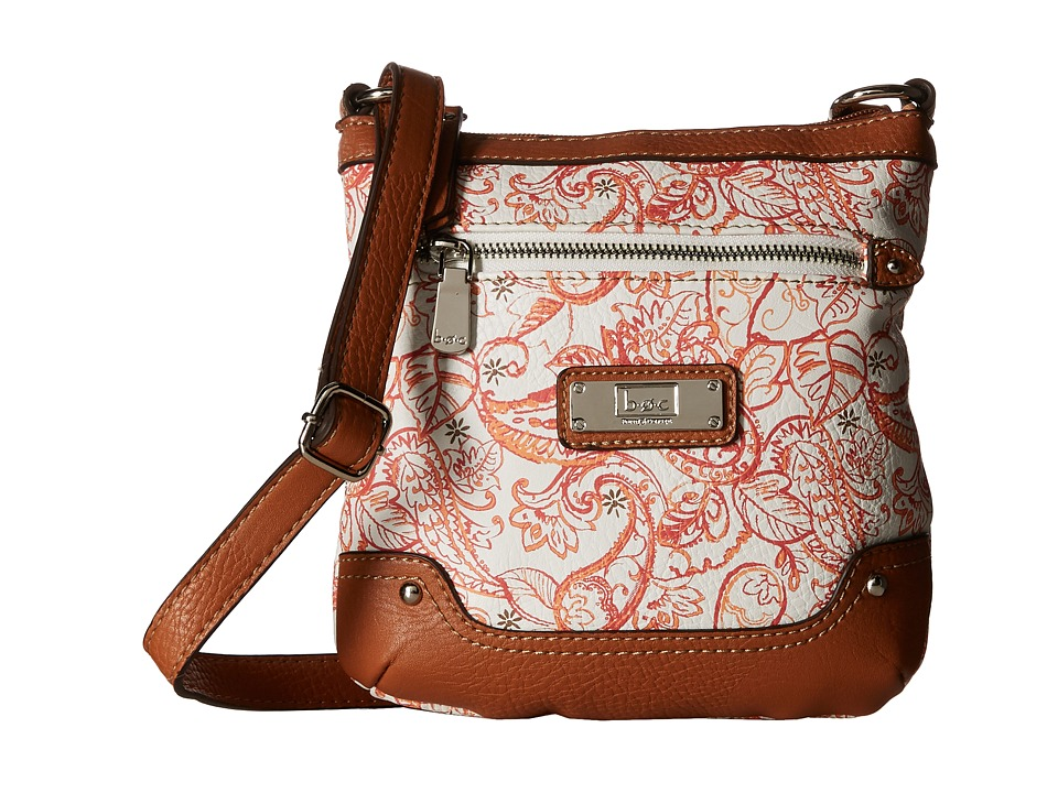 b.o.c. - Vera Cruz Crossbody Paisley (Papaya) Cross Body Handbags