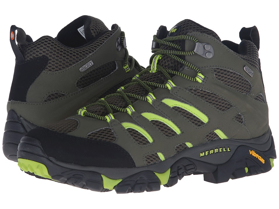 Merrell - Moab Mid Waterproof (Dusty Olive/Black) Men's Hiking Boots